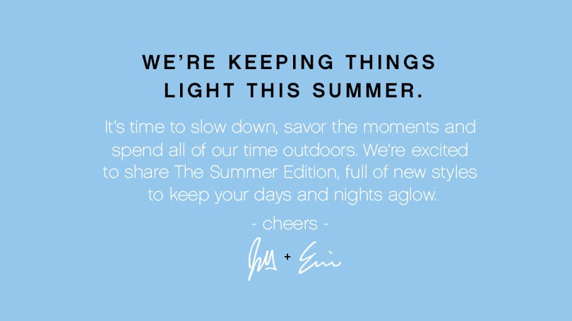 It's time to slow down, savor the moments and spend our time indoors.